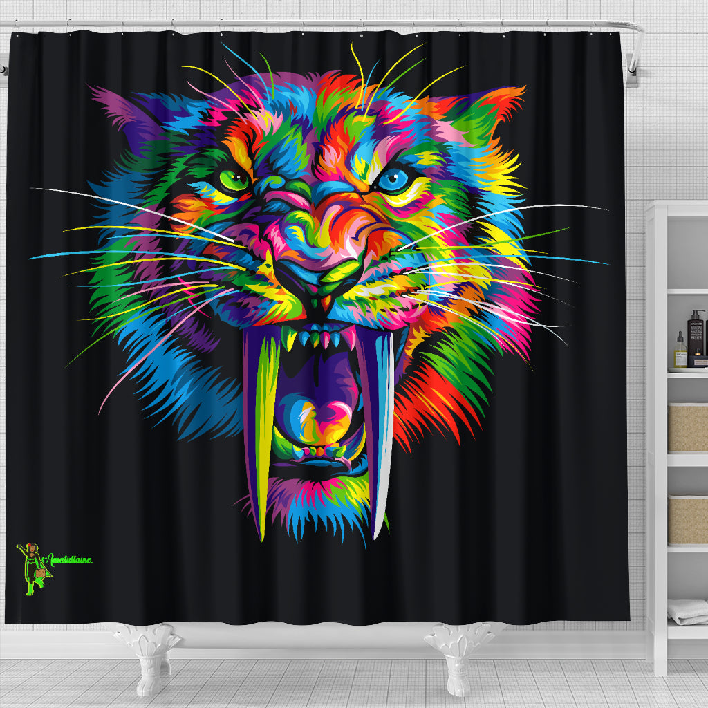 Sabertooth Shower Curtain