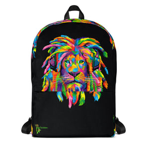Amatullainc. Lion Rasta Backpack is just what you need for daily use or sports activities! The pockets (including one for your laptop) give plenty of room for all your necessities, while the water-resistant material will protect them from the weather.