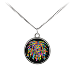 Accessorize your outfit with this beautiful necklace featuring a UV printed coin charm. The charm is silver plated with a minimalistic design. The necklace is comprised of a sterling silver plated brass chain with an elegant matte finish.