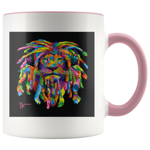 Amatullainc. Lion Rasta Mug is a high-quality 11oz. Ceramic white accent mug has a premium hard coat that provides crisp and vibrant color reproduction sure to last for years. Perfect for all hot & cold beverages which have a High Gloss + Premium White Finish with ORCA Coating Dishwasher and Microwave Safe.