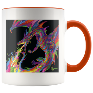 Amatullainc. Fantasy Dragon Mug is a high-quality 11oz. Ceramic white accent mug has a premium hard coat that provides crisp and vibrant color reproduction sure to last for years. Perfect for all hot & cold beverages which have a High Gloss + Premium White Finish with ORCA Coating Dishwasher and Microwave Safe.