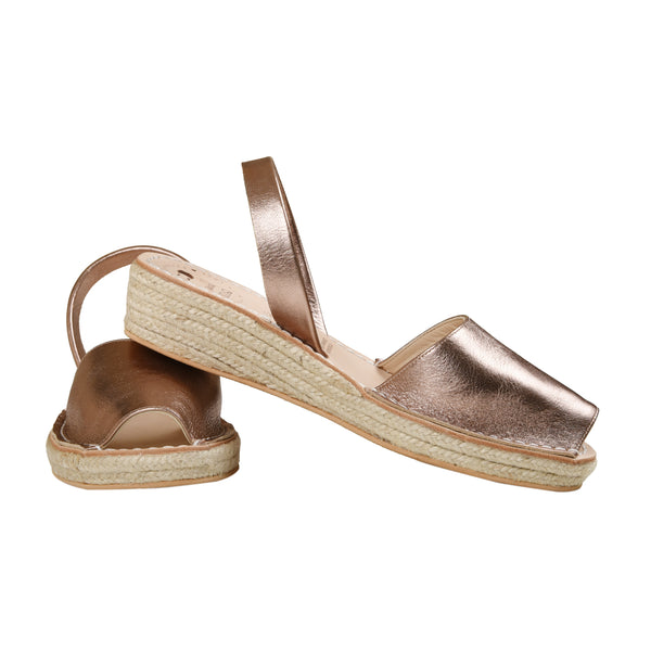 Women's Mibo Rose Gold Low Espadrille Wedge