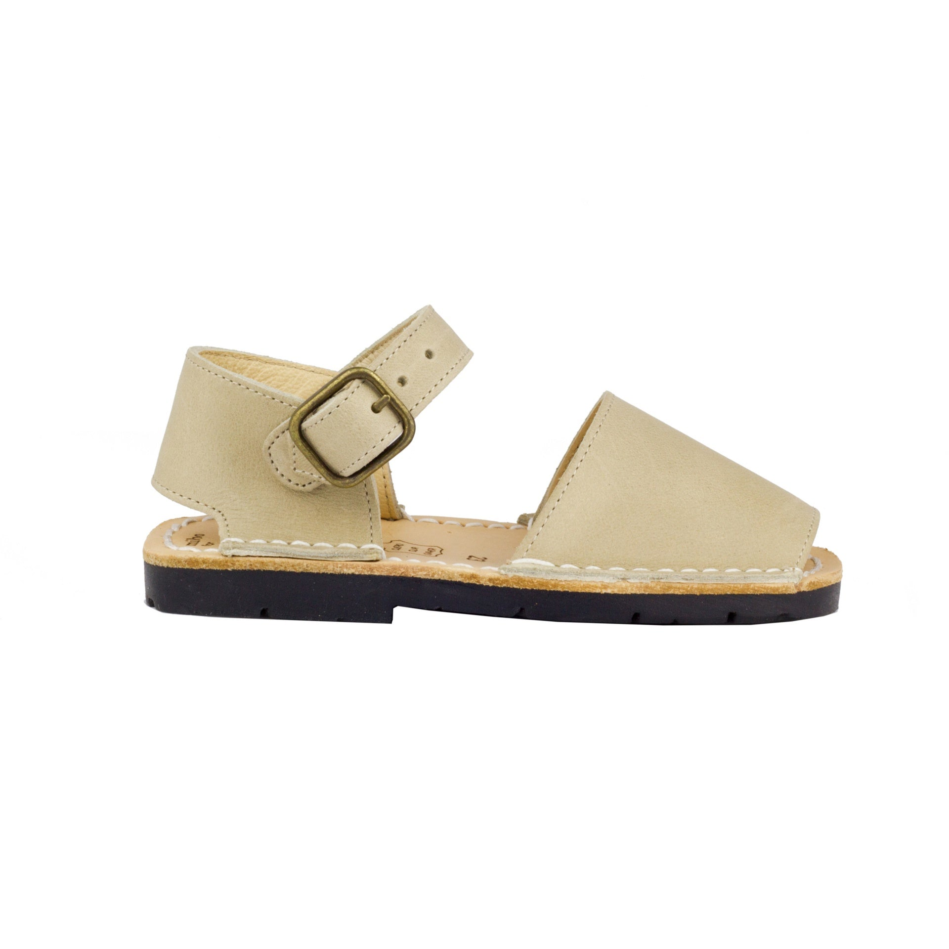 Beige Leather Buckle البيج جلد مشبك