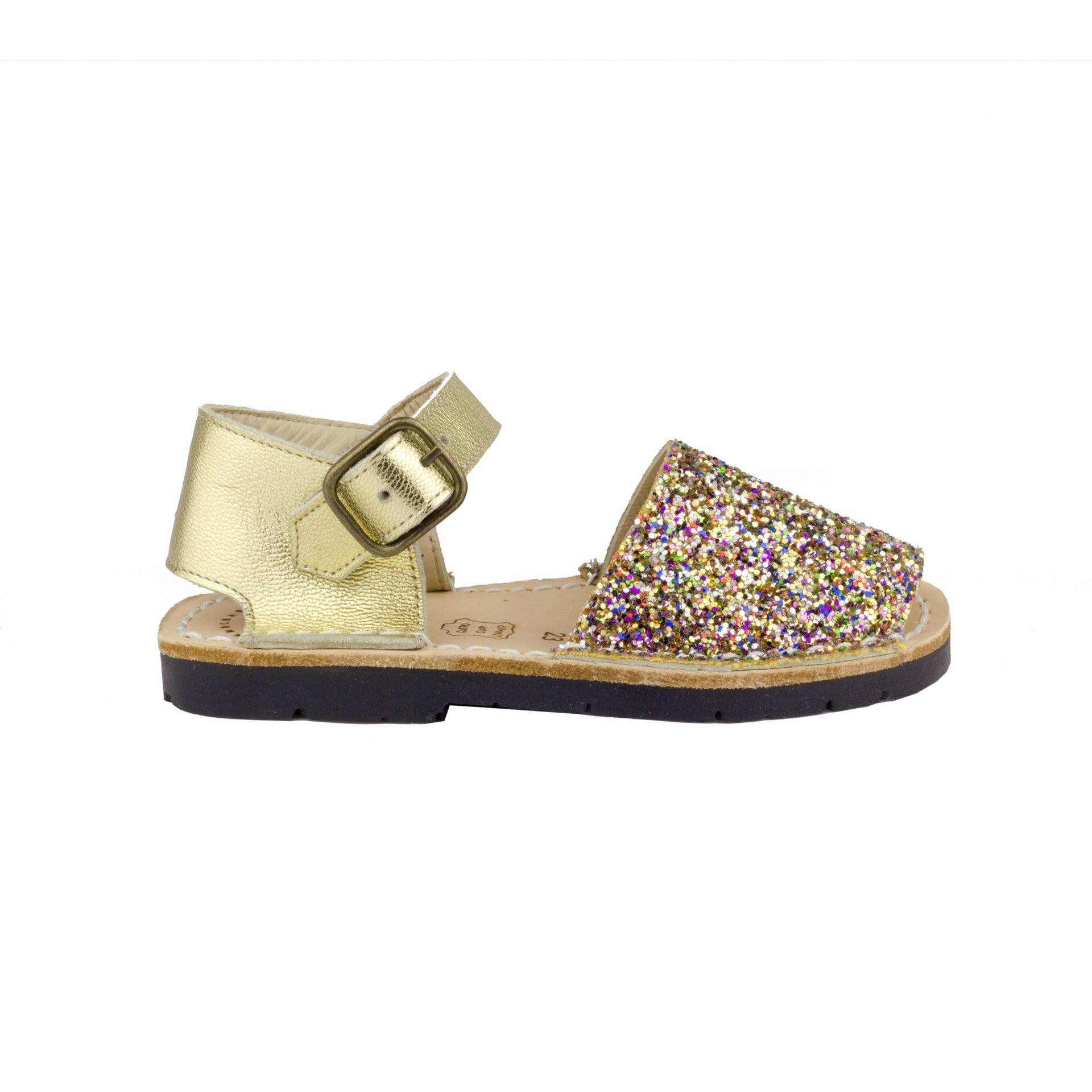 Kid's Multi Glitter Mibo Avarca Sandals with Buckle Strap