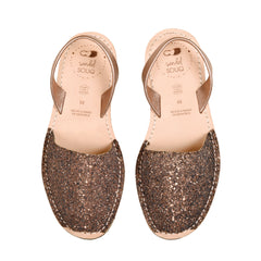 Women's Chocolate Glitter Mibo Avarca Sandals