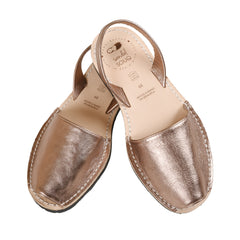 Women's Mibo Rose Gold Leather Avarca Sandals