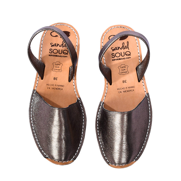 Women's Brass Leather Mibo Avarca Sandals