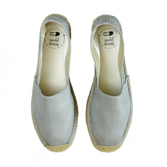 Grey Canvas Espadrille قماش رمادي
