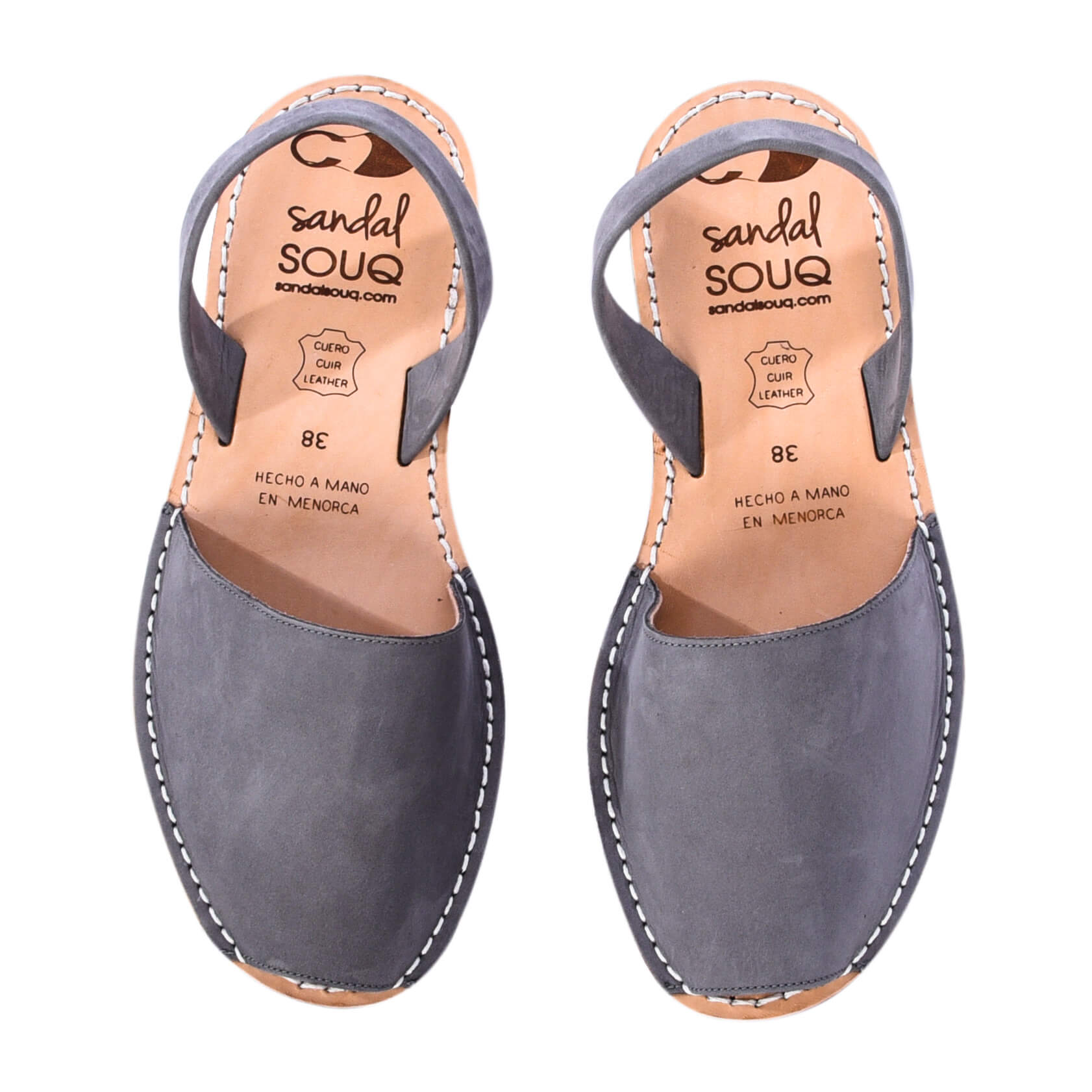 Women's Grey Nubuck Mibo Avarca Sandals