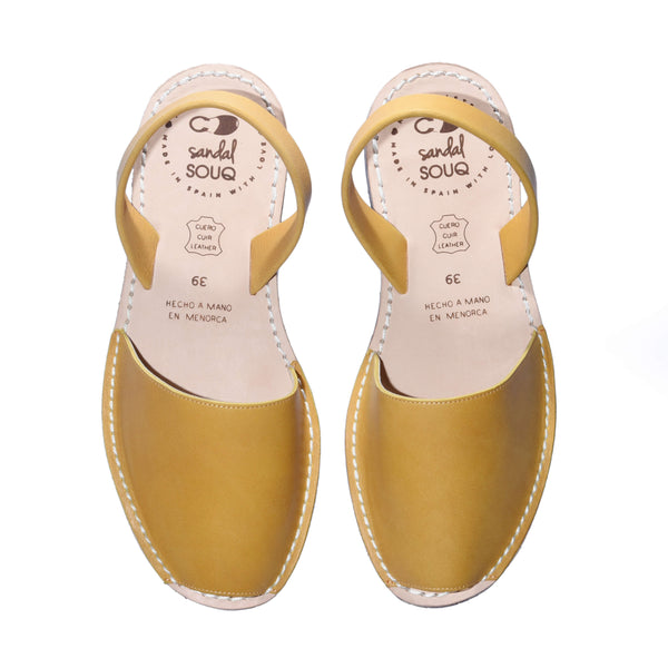 Women's Mustard Yellow Mibo Avarca Sandals
