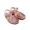 Kid's Candy Glitter Mibo Avarca Sandals with Velcro Strap