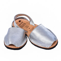Women's Silver Leather Mibo Avarca Sandals