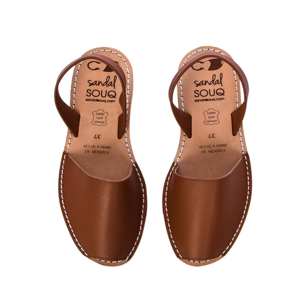 Women's Tan Leather Mibo Avarca Sandals