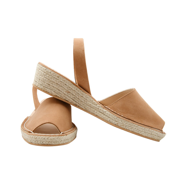 Women's Mibo Tan Nubuck Low Espadrille Wedge