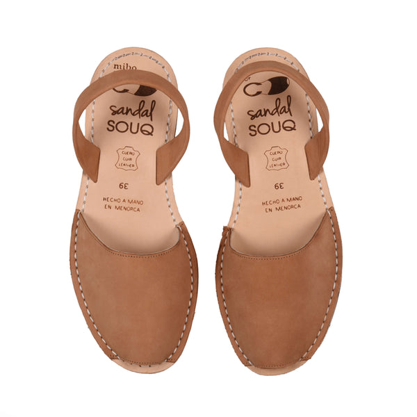 Women's Tan Nubuck Mibo Avarca Sandals