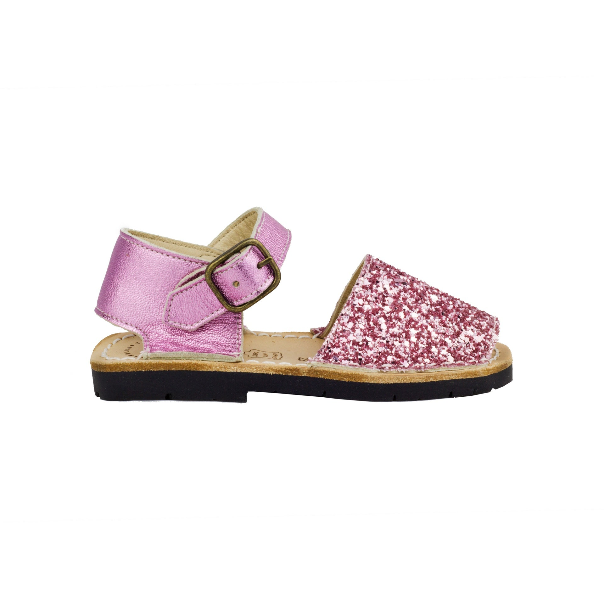 Kid's Candy Glitter Mibo Avarca Sandals with Buckle Strap