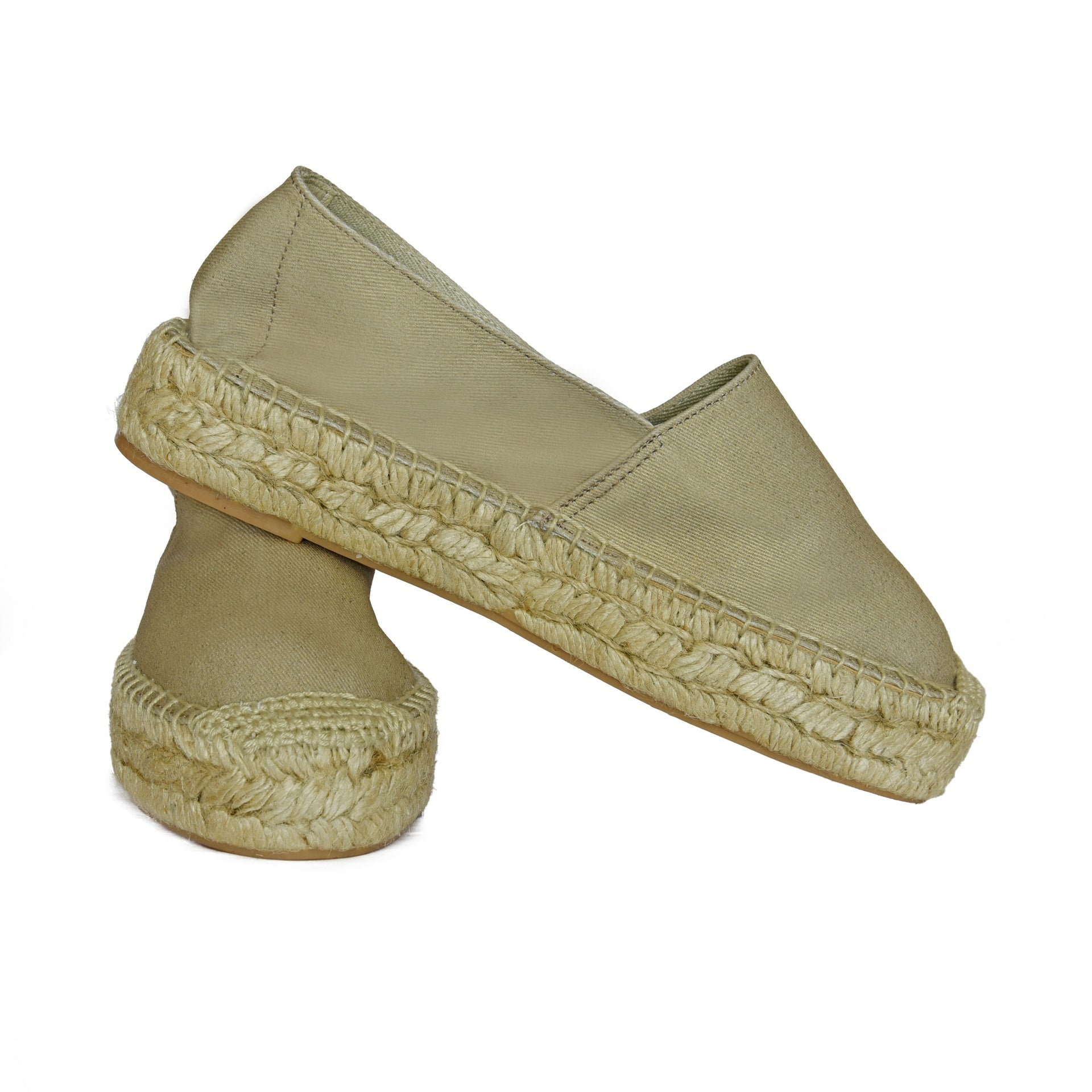 Gold Canvas Espadrille قماش الذهب