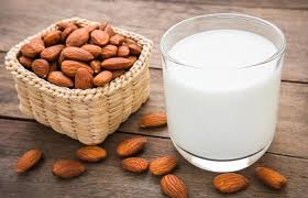 Fresh Almonds and milk - Oh It's Natural