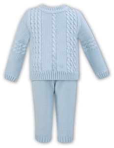 Baby Boys Knitted Trousers and Cable Detailed Jumper (2 piece Set )