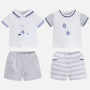 4 Piece Mix & Match Shorts & T-Shirt Set