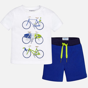 Short Sleeve Printed T-Shirt & Shorts Set