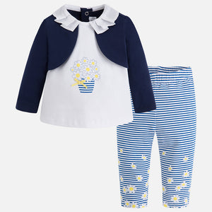 3 Piece Leggings T-Shirt & Cardigan Set