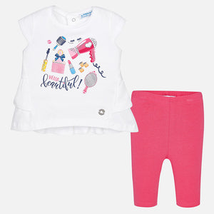 Printed T-Shirt & Leggings Set