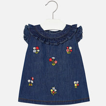 Chambray Denim Embroided Dress