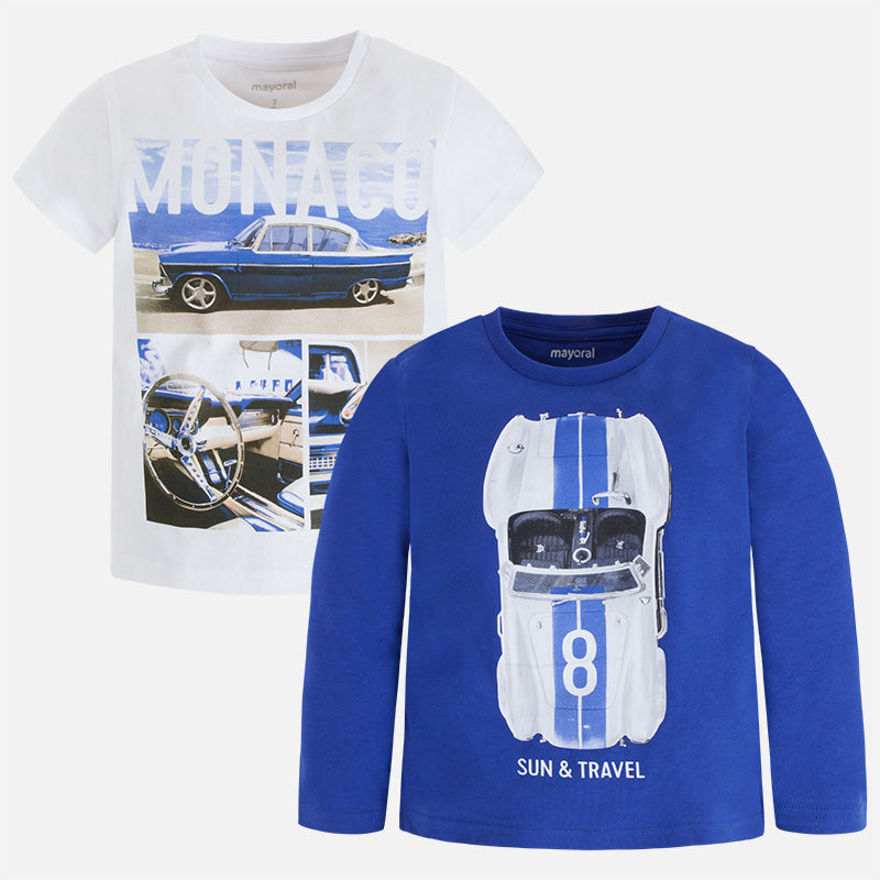 2 Pack T-Shirt Set Long Sleeve & Short Sleeve