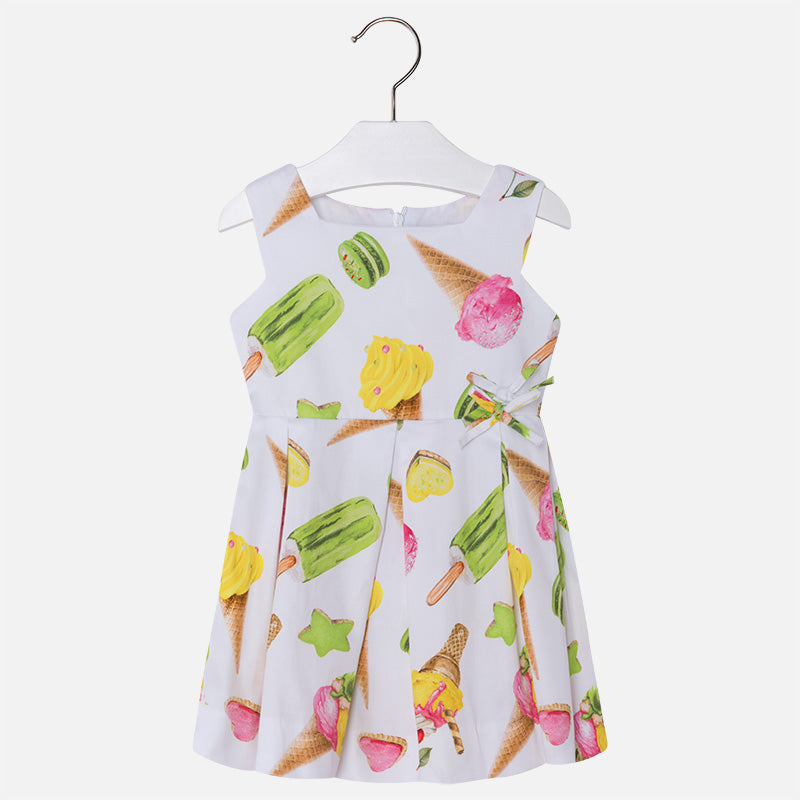 Ice Cream Satin Sleeveless Dress