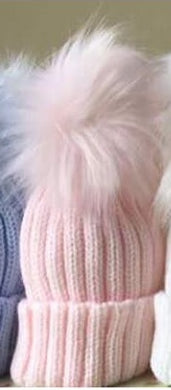 Single Pom Hat - Pink
