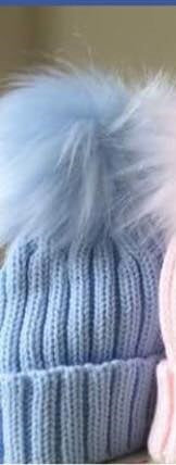 Single Pom Hat - Blue