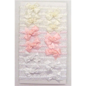 Girls Bow Rose Organza Headband