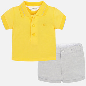 Baby Boys Cotton Shorts and Short Sleeved Polo Shirt Set