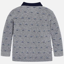 Boys Long Sleeved Bike Print Polo Top