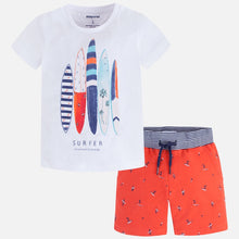 Boys Shorts and Printed T-Shirt Set
