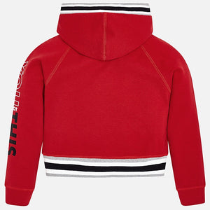 Girls Detailed Cropped Hoodie