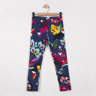 Girls Leggings Tropical Flower Print