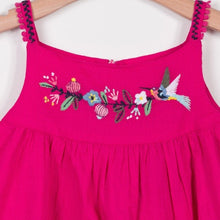 Girls Embroidered Sleeveless Tunic Top