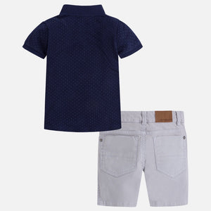 Boys Polo Shirt & Shorts Set