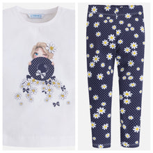 Girls Daisy T-Shirt & Leggings Set