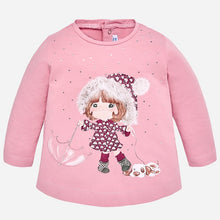 Girls Long Sleeved Print and Stud Detailed T-Shirt with Printed Leggings