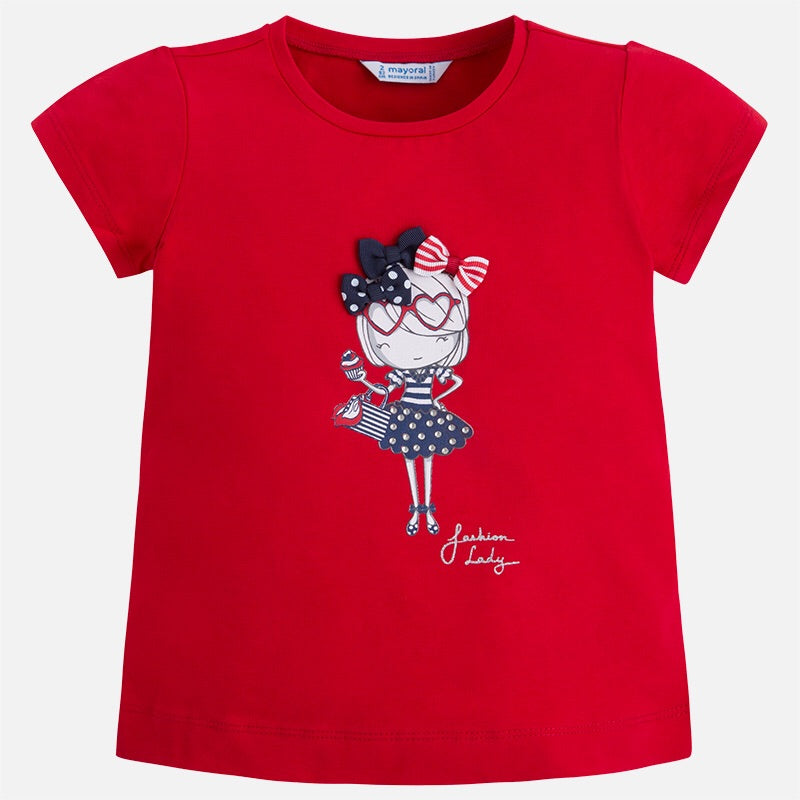 Girls Print Detail T-Shirt