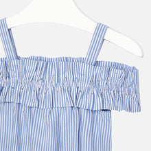 Girls Striped Poplin Dress