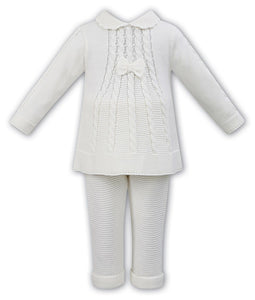 Girls Detailed Knitted Dress and Trousers set