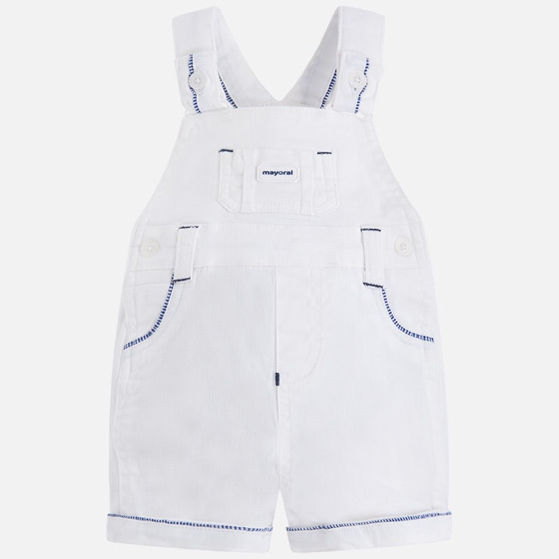 Cotton Overalls (Dungarees) With Stitched Detail