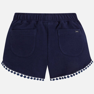 Girls Shorts with Edged Detail