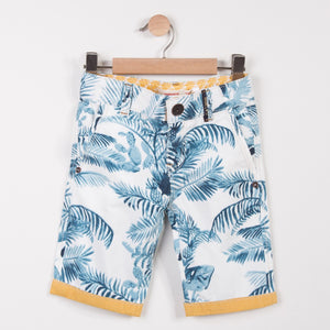 Boys Bermudas Shorts Palm Tree Print