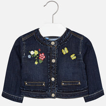 Girls Embroidered Denim Jacket
