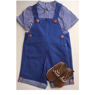 Dungarees and Shirt Set